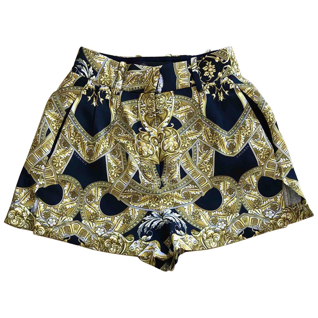 Versace N Multicolour Silk Shorts for Women