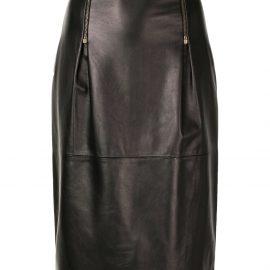 Versace high-waisted pencil skirt - Black