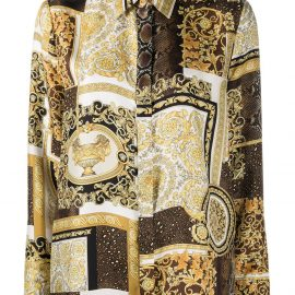 Versace printed silk shirt - Brown