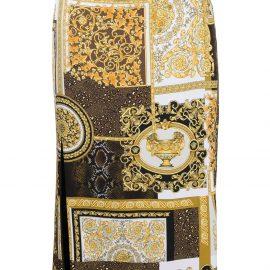 Versace printed slit-detail skirt - Gold