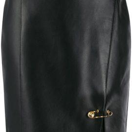 Versace safety pin mini skirt - Black