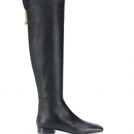 Versace thigh-high 25mm boots - Black