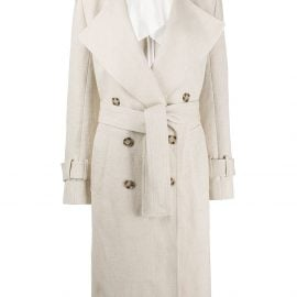 Victoria Beckham 70's double-breasted trench coat - Neutrals