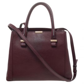 Victoria Beckham Burgundy Leather Quincy Tote