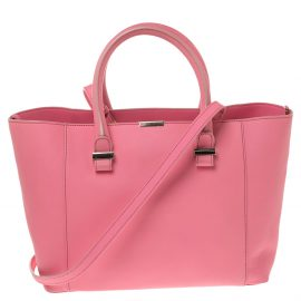 Victoria Beckham Candy Pink Leather Quincy Tote