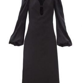 Victoria Beckham - Keyhole-cutout Crepe Midi Dress - Womens - Black