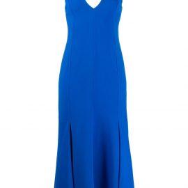 Victoria Beckham camisole flared dress - Blue