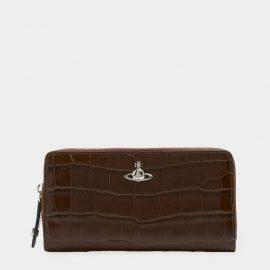 Vivienne Westwood AW18 Lisa Zip Round Wallet - Brown