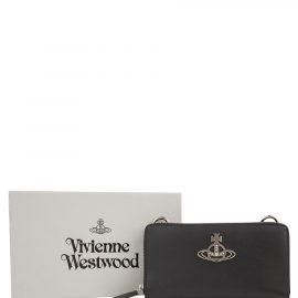 Vivienne Westwood Black Crossbody Kent Wallet - Size One Size