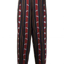 Vivienne Westwood Chaplin stripe-print tapered trousers - Blue