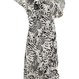 Vivienne Westwood Johanna embroidered midi dress - Neutrals