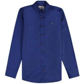 Vivienne Westwood Men's Single Button Shirt Blue