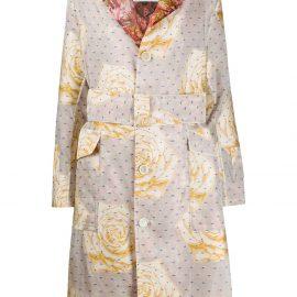 Vivienne Westwood mixed-print belted coat - Neutrals