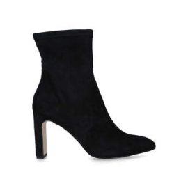 Womens Kg Kurt Geiger Tharablack Block Heel Sock Boots, 3 UK