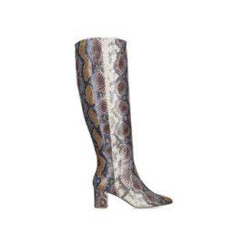 Womens Kurt Geiger London Briyasnake Print Block Heel Knee High Boots, 2 UK