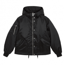 Women's Refined Insulated Drawstring Bomber Jacket