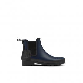 Women's Refined Texture Block Slim Fit Chelsea Boots