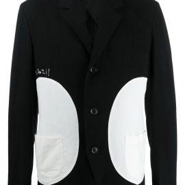 Yohji Yamamoto color-block blazer - Black