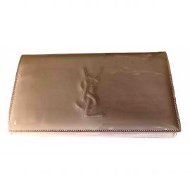 Yves Saint Laurent Belle de Jour Beige Patent leather Clutch Bag for Women
