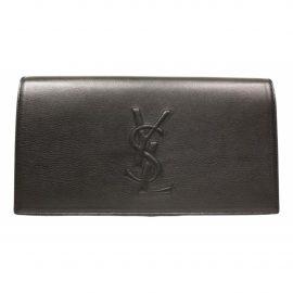 Yves Saint Laurent Belle de Jour Black Leather Clutch Bag for Women
