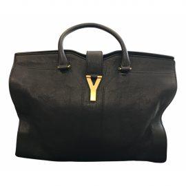 Yves Saint Laurent Chyc Black Leather Handbag for Women
