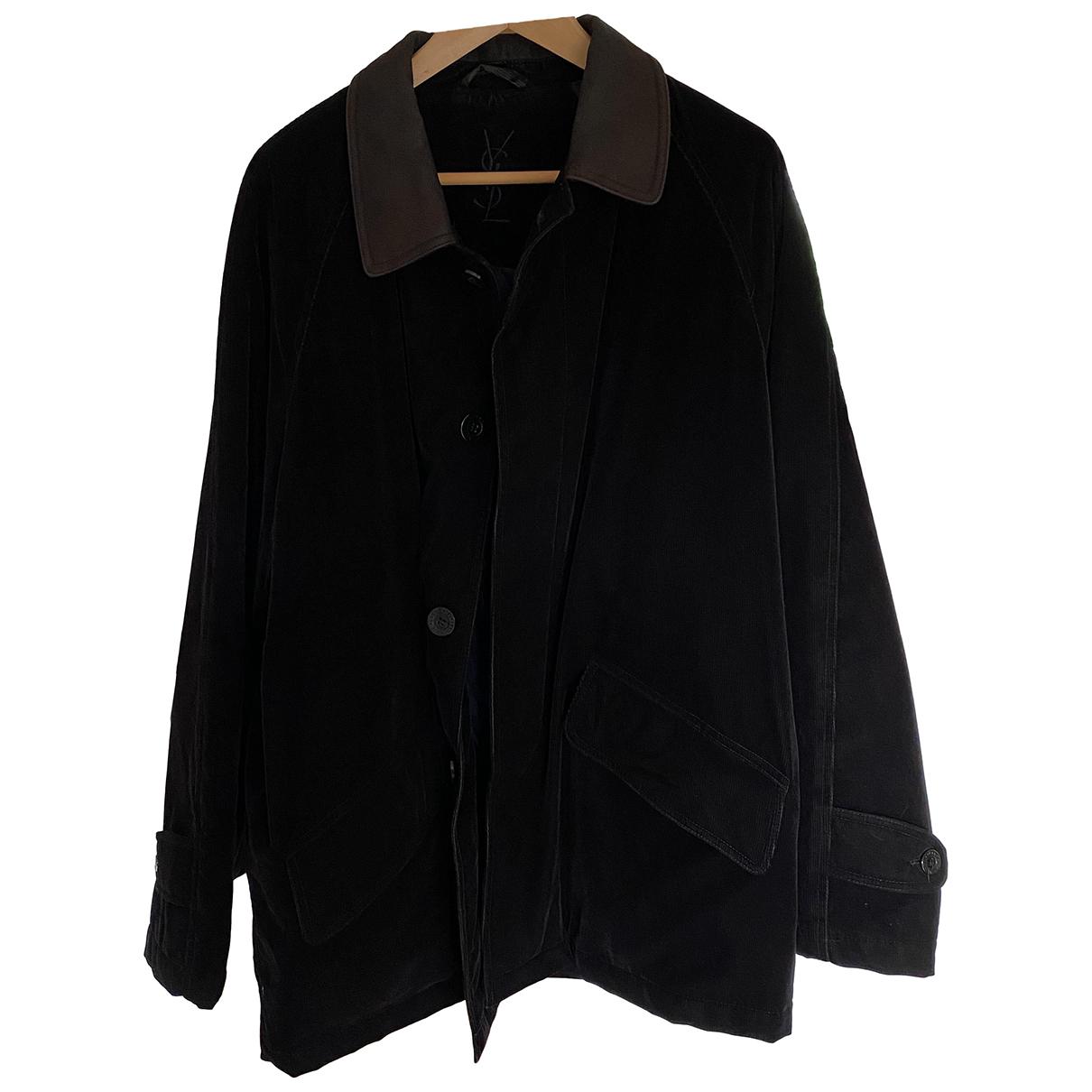 Yves Saint Laurent N Black Cotton Jacket for Men
