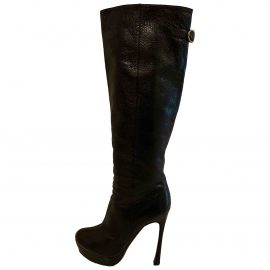 Yves Saint Laurent N Black Leather Boots for Women