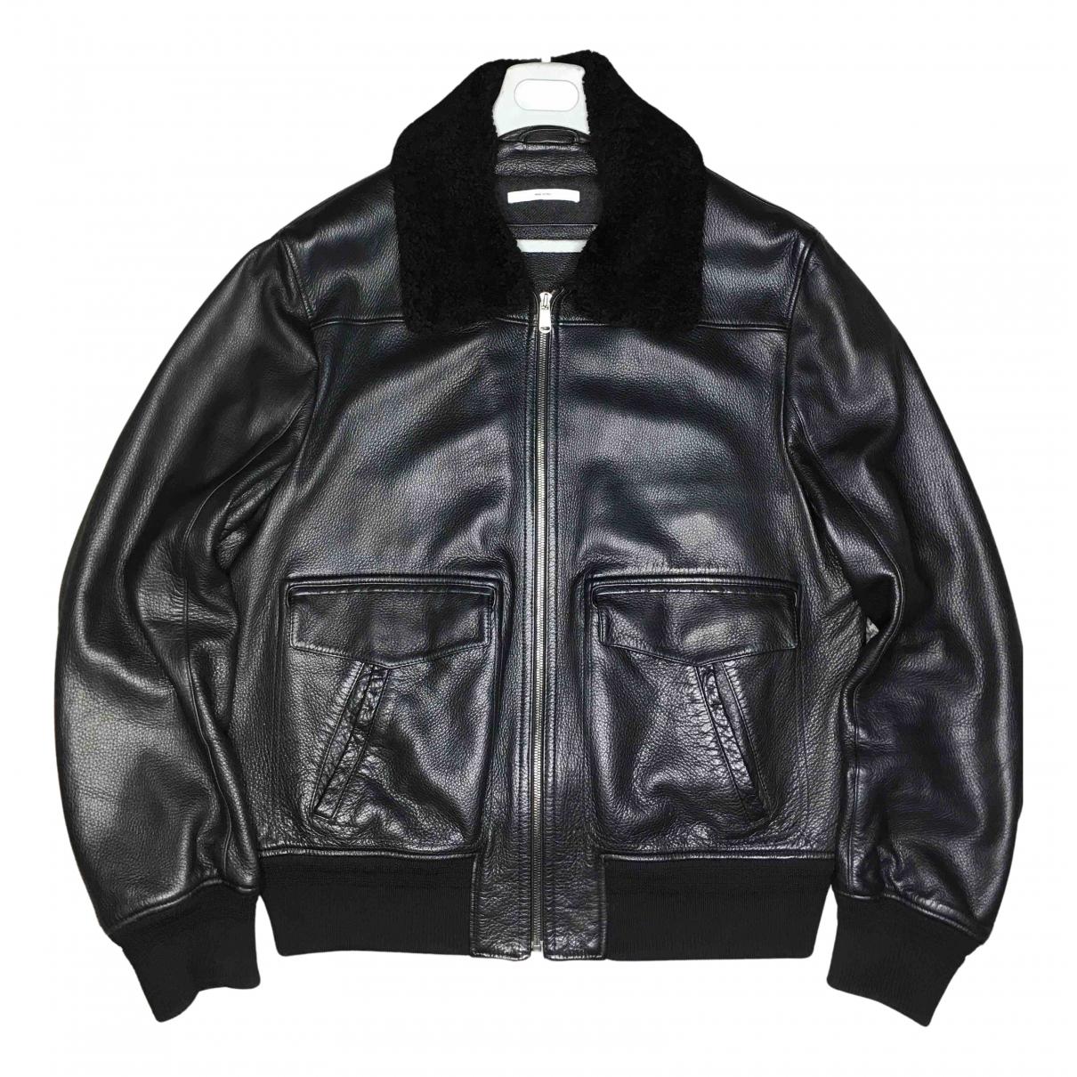 Yves Saint Laurent N Black Leather Jacket for Men