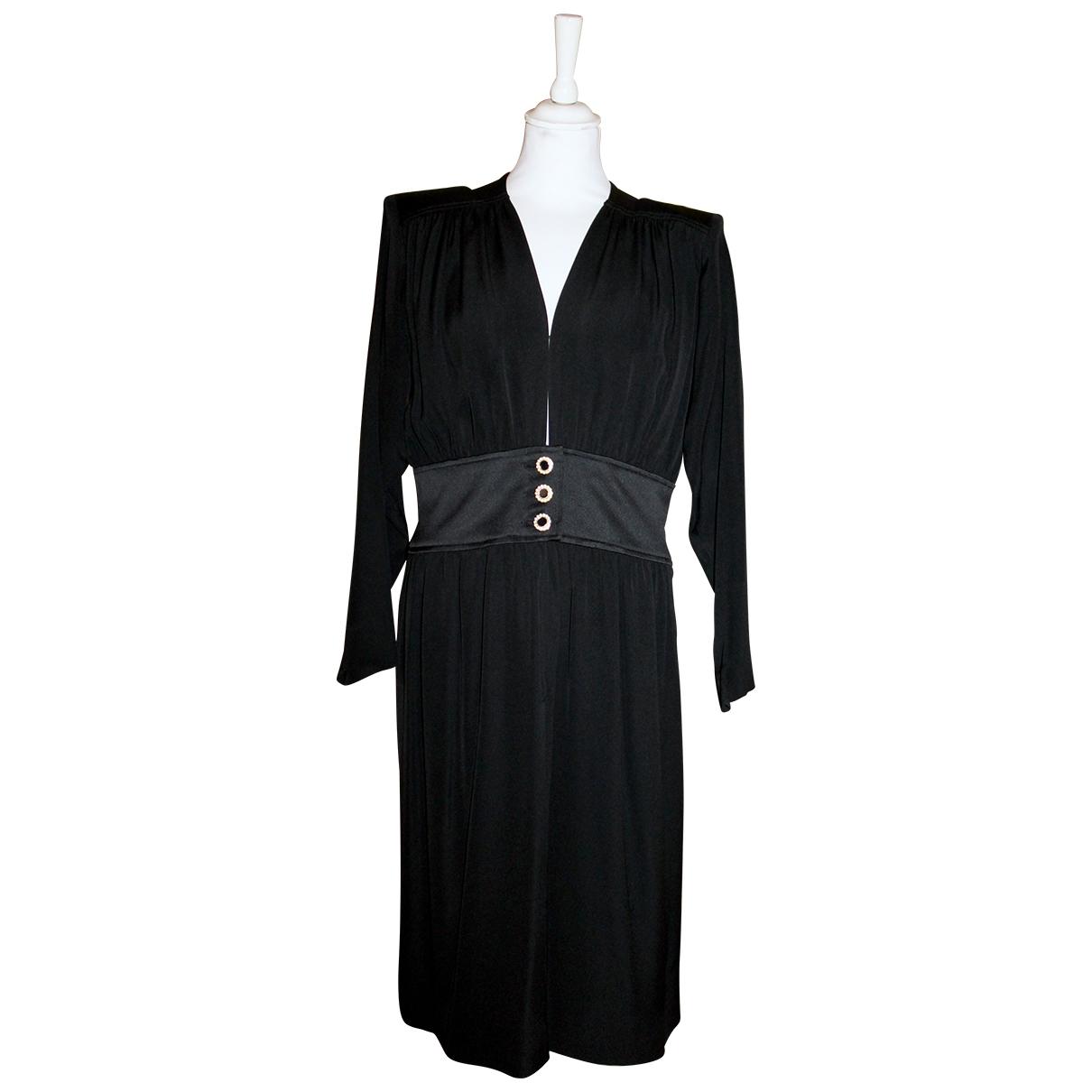 Yves Saint Laurent N Black Silk Dress for Women