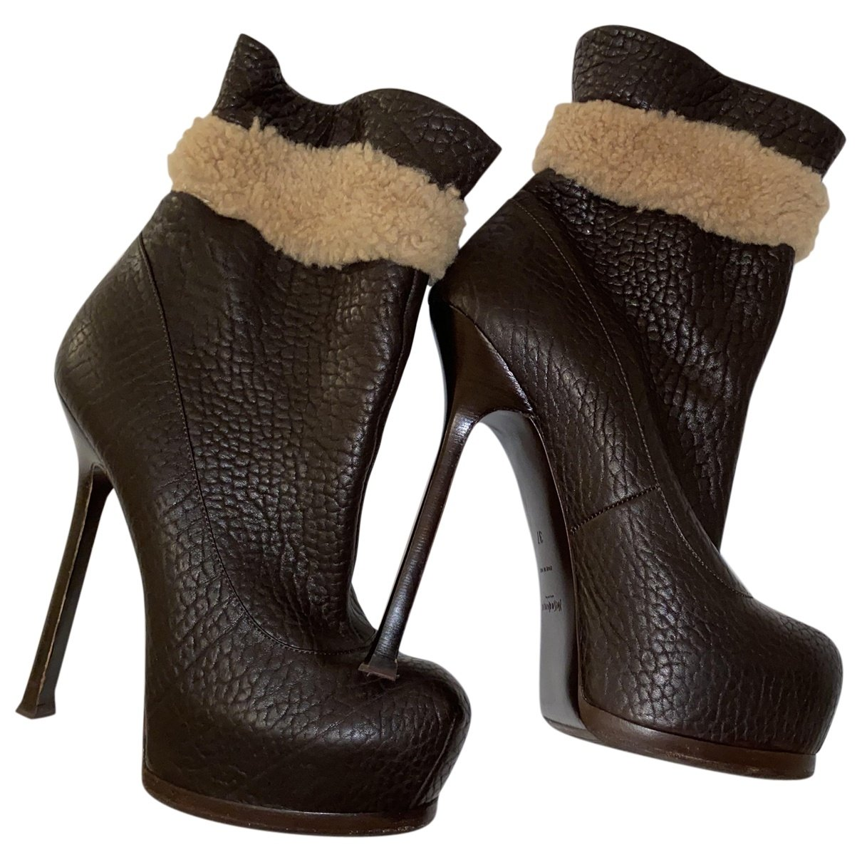 Yves Saint Laurent N Brown Leather Ankle boots for Women