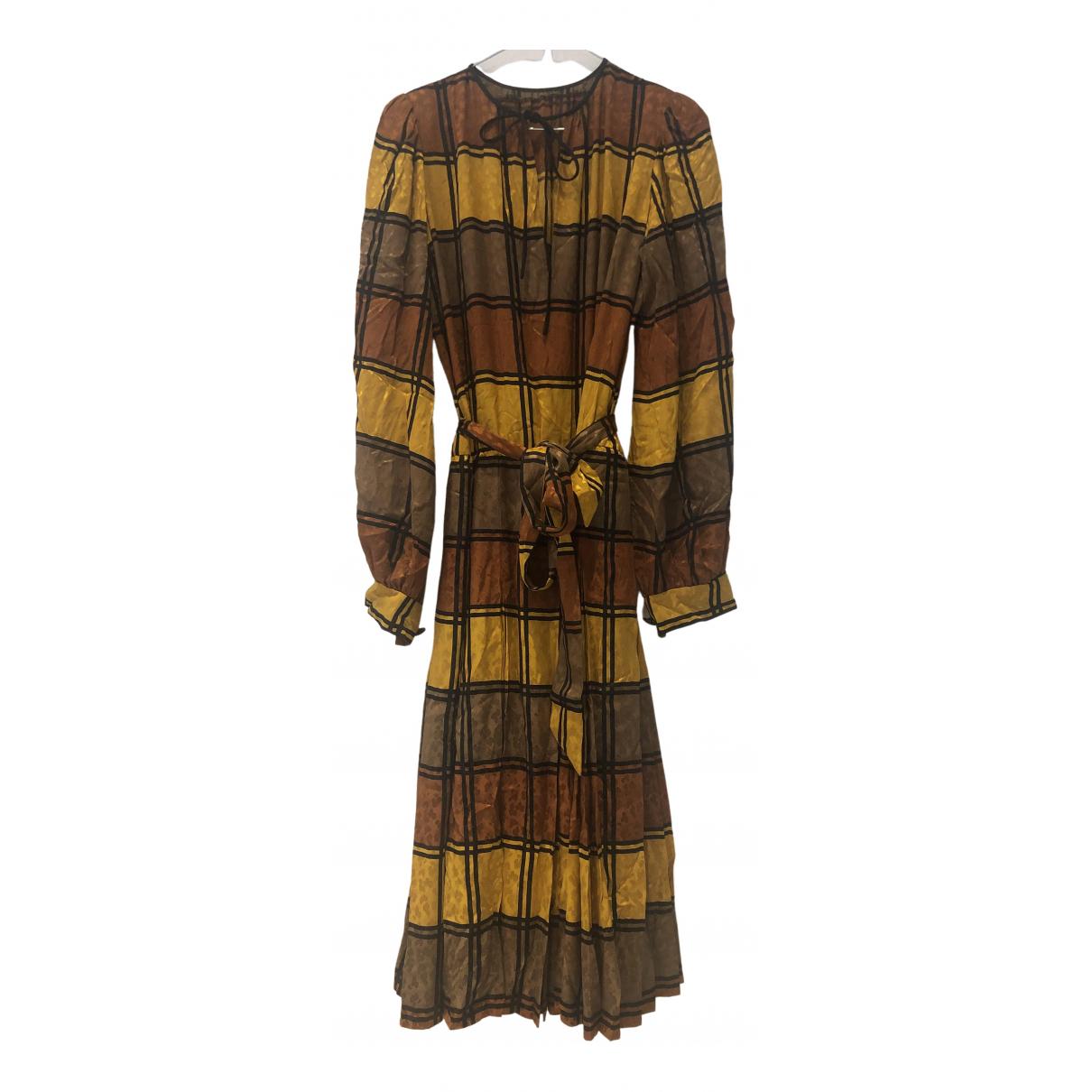 Yves Saint Laurent N Brown Silk Dress for Women