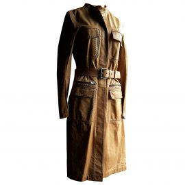 Yves Saint Laurent N Camel Leather Coat for Women