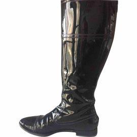 Yves Saint Laurent Patent leather wellington boots