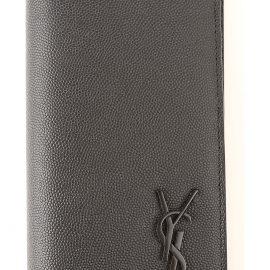 Yves Saint Laurent Wallet for Men On Sale, Black, Leather, 2021