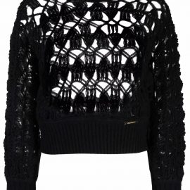 ZIMMERMANN Concert crochet jumper - Black