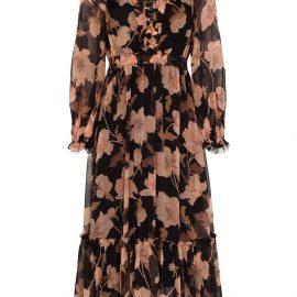 ZIMMERMANN Concert floral-print midi dress - Black