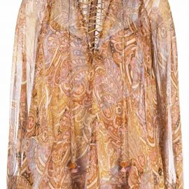 ZIMMERMANN Concert lace-up blouse - Brown