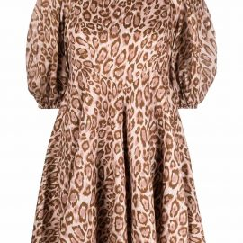 ZIMMERMANN Concert mini leopard-print dress - Neutrals