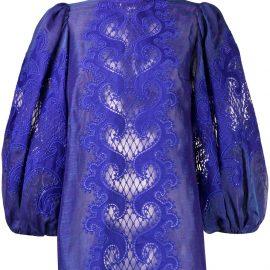 Zimmermann Brightside embroidered blouse - Blue
