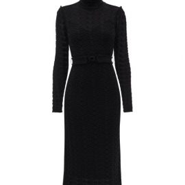 Zimmermann - Concert Crochet-knitted Cotton Midi Dress - Womens - Black
