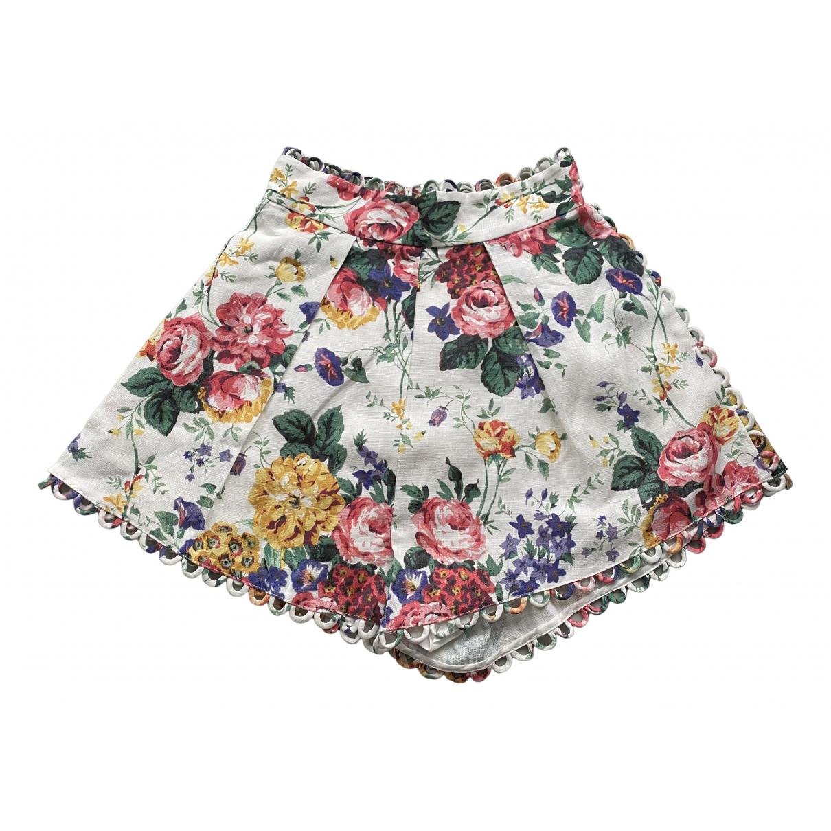 Zimmermann N Multicolour Cloth Shorts for Women