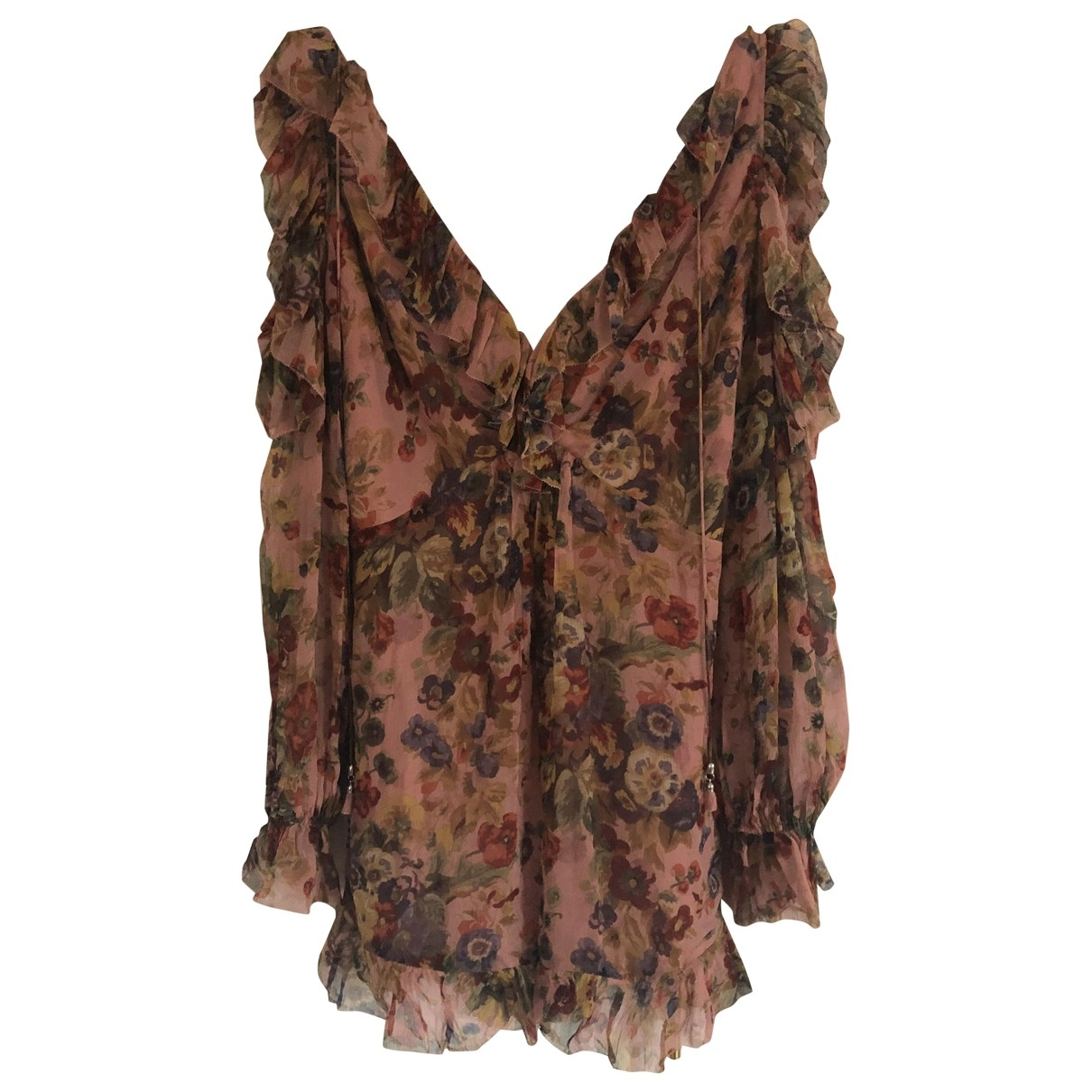 Zimmermann N Multicolour Silk Shorts for Women