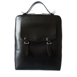 "kARTu studio - Leather Backpack ""Lupin"" Black"