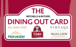 £100 Mitchells & Butlers Dining out Gift Card