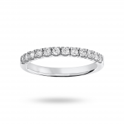 9ct White Gold 0.33ct Brilliant Cut Half Eternity Ring – Ring Size N