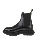 Alexander McQueen Man Black Chelsea Ankle Boot With Tread Sole
