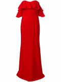 Alexander McQueen dropped sleeves evening dress – Red