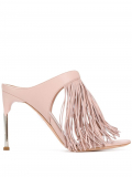Alexander McQueen fringed mules – Pink