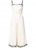 Alexander McQueen scalloped lace denim dress – Neutrals