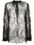 Alexander McQueen sheer lace blouse – Black